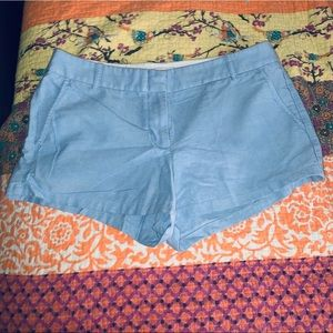 Blue chambray JCrew shorts